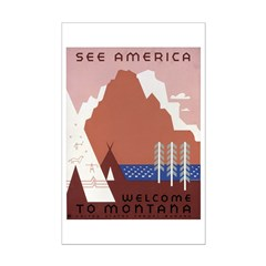 See America Welcome To Montana Posters