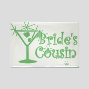 Green C Martini Bride's Cousin Rectangle Magnet