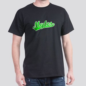 Retro Myles (Green) Dark T-Shirt