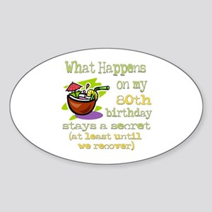 What Happens 80th Oval Sticker