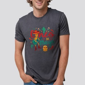 Cinco de Mayo Mens Tri-blend T-Shirt