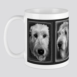 Black and White Irish Wolfhound Mug
