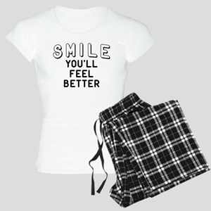 Smile You'll Feel Better Women's Light Pajamas