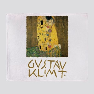 The Kiss by Gustav Klimt Throw Blanket