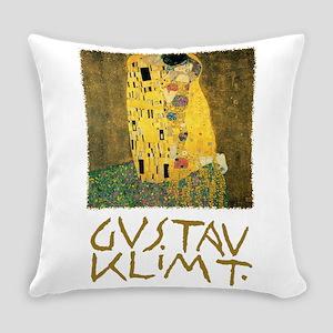 The Kiss by Gustav Klimt Everyday Pillow