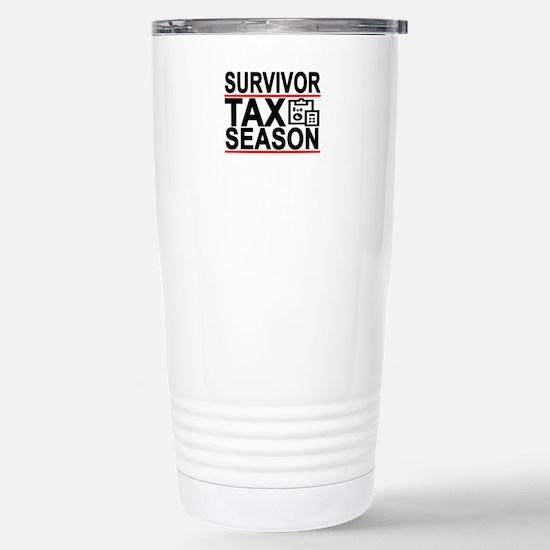 SURVIVOR Tax Season Funny Accountant T-Shirt . Mug