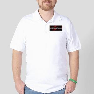 Speech Therapist Professional Job Desig Golf Shirt