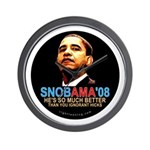 SNOBAMA '08 anti-Obama Wall Clock