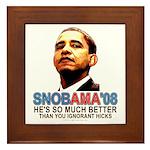 SNOBAMA '08 anti-Obama Framed Tile