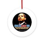 SNOBAMA '08 anti-Obama Ornament (Round)