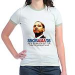 SNOBAMA '08 anti-Obama Jr. Ringer T-Shirt