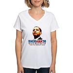 SNOBAMA '08 anti-Obama Women's V-Neck T-Shirt