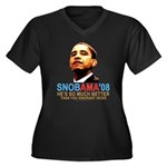 SNOBAMA '08 anti-Obama Women's Plus Size V-Neck Da