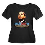SNOBAMA '08 anti-Obama Women's Plus Size Scoop Nec