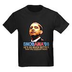 SNOBAMA '08 anti-Obama Kids Dark T-Shirt