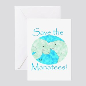 Save the Manatees Greeting Card