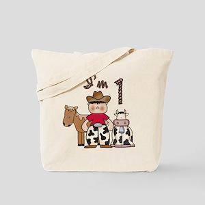 Cowboy First Birthday Tote Bag