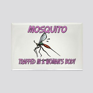 Mosquito Trapped In A Woman's Body Rectangle Magne