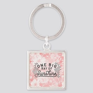 One Big Ray Of Sunshine Square Keychain