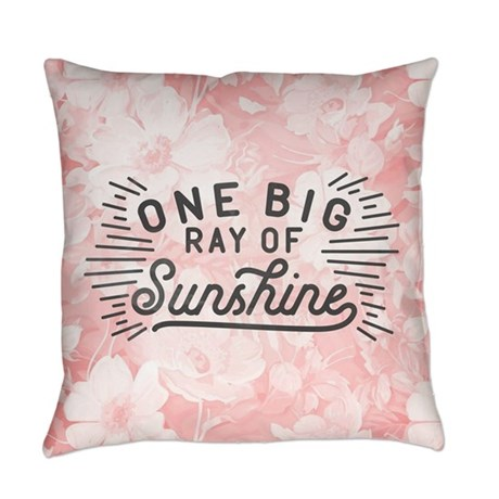 One Big Ray Of Sunshine Throw Pillow