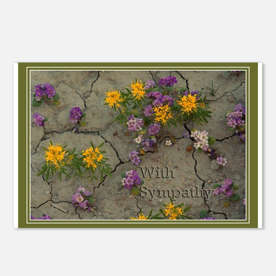 Sympathy Flowers Postcards (Package of 8)