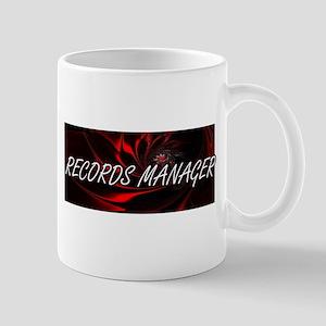 Records Manager Professional Job Design Mugs