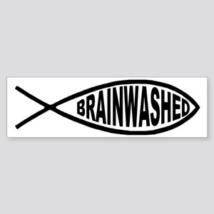 Brainwashed Fish Bumper Sticker