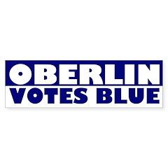 Oberlin Votes Blue (bumper sticker)