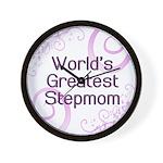 World's Greatest Stepmom Wall Clock