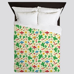 Cactus Pattern Queen Duvet