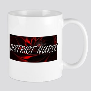 District Nurse Professional Job Design Mugs