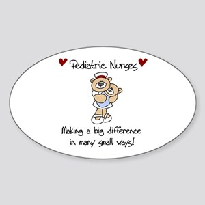 Pediatric Nurse Oval Sticker