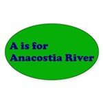 A is for Anacostia River Oval Sticker (10 pk)