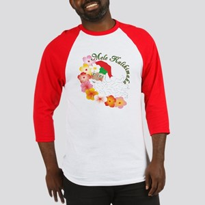 Santa Surrounded by Hibiscus Baseball Jersey