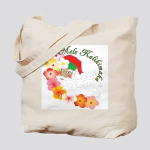 Santa Surrounded by Hibiscus Tote Bag