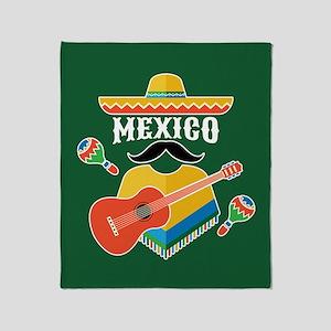 Mexico Hombre Throw Blanket