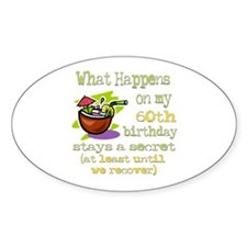 What Happens 60th Oval Sticker