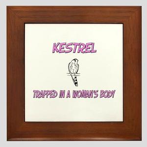 Kestrel Trapped In A Woman's Body Framed Tile