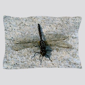 Black and Gold Dragonfly Pillow Case