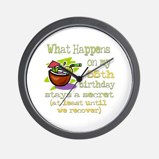 What Happens 55th Wall Clock