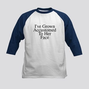 Accustomed To Her -TuneTitles Kids Baseball Jersey