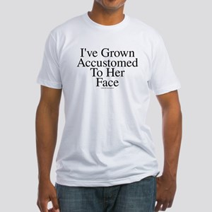 Accustomed To Her -TuneTitles Fitted T-Shirt
