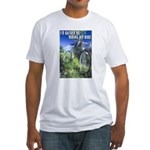 Green Bicycle Fitted T-Shirt