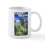 Green Bicycle Mug