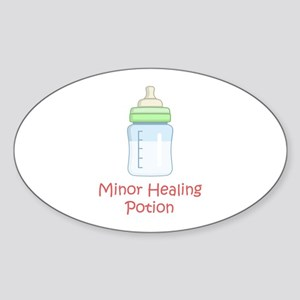 RPG Milk Healing Potion Oval Sticker