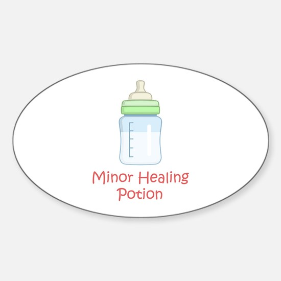 RPG Milk Healing Potion Oval Decal
