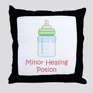 RPG Milk Healing Potion Throw Pillow