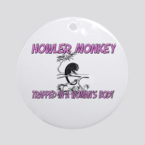 Howler Monkey Trapped In A Woman's Body Ornament (