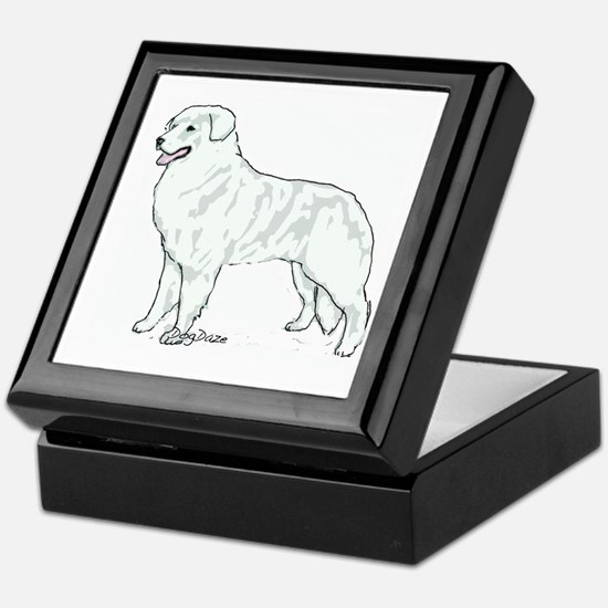 kuvasz Portrait Keepsake Box