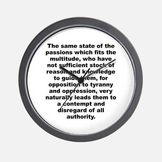 The same state of the passions which fits the mult Wall Clock